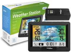 Weather stations and thermometers