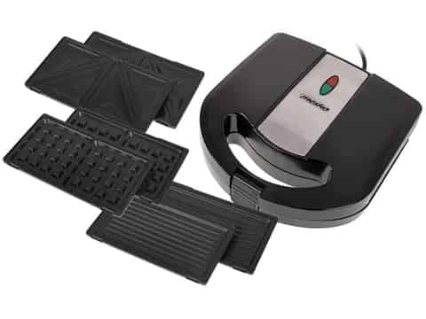 3-in-1 sandwich maker for sandwiches, toasts, waffles and 1000W MS 3045 grill at Wasserman.eu
