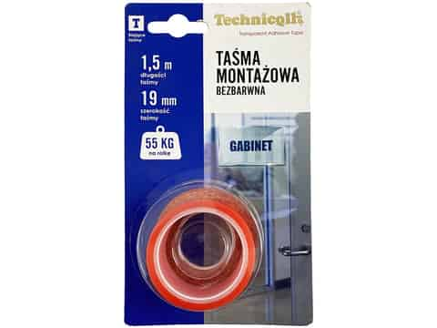 Double-sided Technicqll 1.5m mounting tape (colorless) at Wasserman.eu