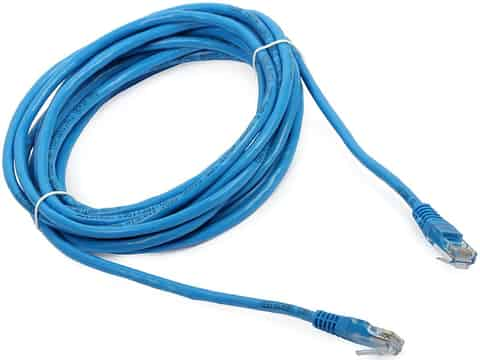 UTP patch cord LAN Cat.5e blue cable (5 meters) at Wasserman.eu