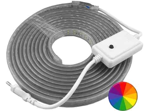 RGB strip in rubber IP67 5m 300x LED driver on a LXL0105 cable at Wasserman.eu