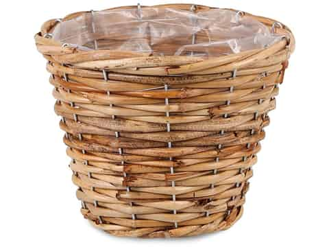 Rattan basket for plantings, cover (GD 6121, S) at Wasserman.eu