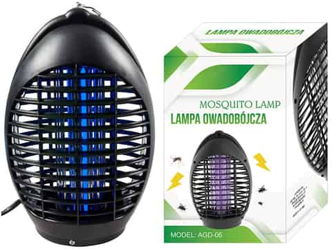 Insect killer lamp 230V, effective against mosquitoes at Wasserman.eu
