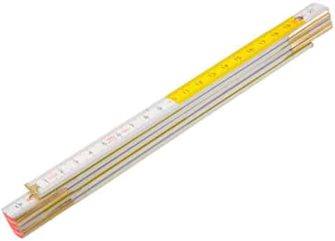 Wooden folding rule 2 m, white and yellow Topex at Wasserman.eu