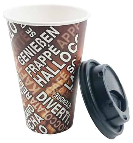 300ml paper cups with a lid at Wasserman.eu