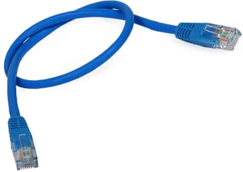 UTP patch cord LAN Cat.5e blue cable (0.5 meters) at Wasserman.eu