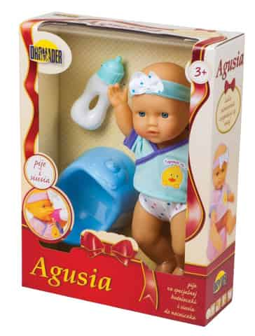 Doll Agusia drinks and pees at Wasserman.eu