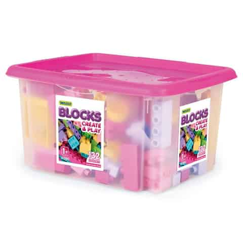 Blocks 132 pcs. in a container for girls at Wasserman.eu