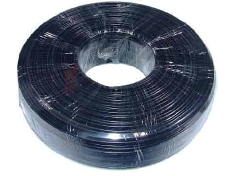 Flat telephone cable stranded wire 100 meters black at Wasserman.eu