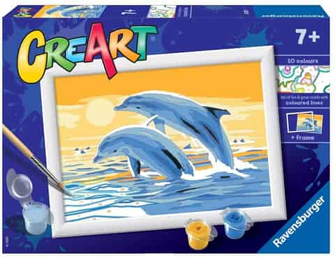 Coloring book CreArt for children Dolphins at Wasserman.eu