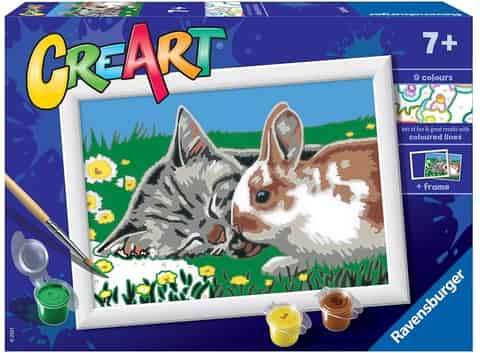 Coloring book CreArt for children Kittens on the meadow at Wasserman.eu
