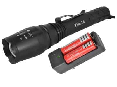 XML-T6 Rechargeable LED torch at Wasserman.eu